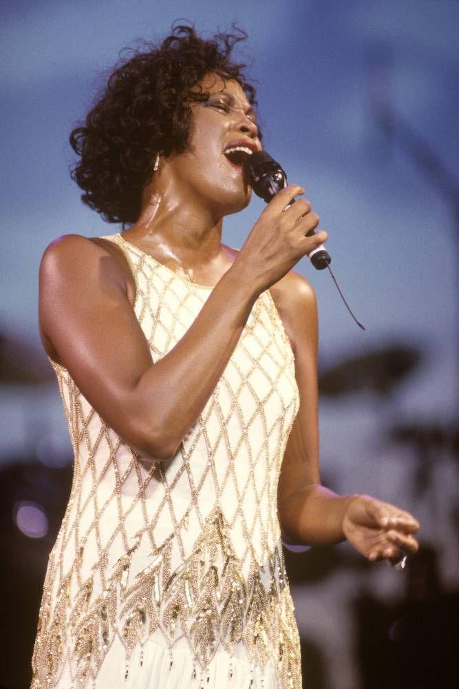 Whitney Houston, whose glittering fashio...