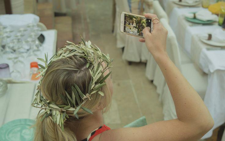 """25.05.2016 """"Olive Wedding Theme""""  #olivecrown #Avli #wedding #weddinginrethymno #weddingincrete"""