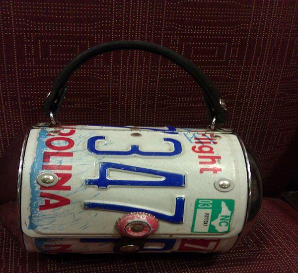 License Plate small handbag