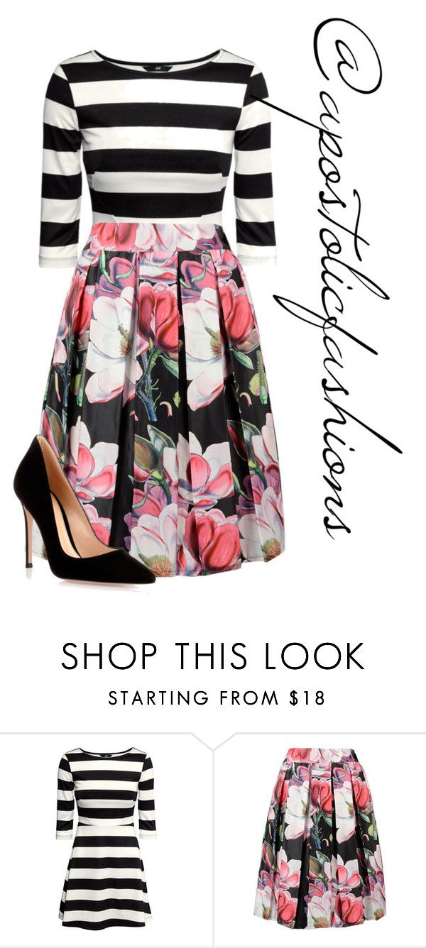 """Apostolic Fashions #1379"" by apostolicfashions on Polyvore featuring H&M and Gianvito Rossi"
