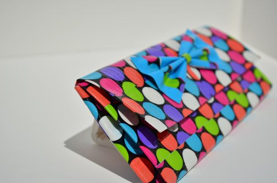Polka Dot duct tape wallet.
