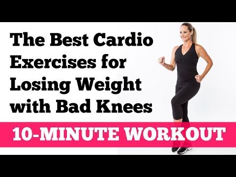 The Best Cardio Exercises for Losing Weight with Bad Knees: Full 10-Minute Home Workout - YouTube