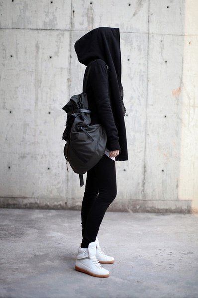 All black except the sneakers . #hijab
