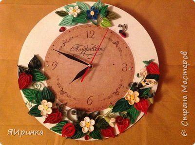 Декор предметов День рождения Квиллинг Клубничная грядка Бумага фото 1