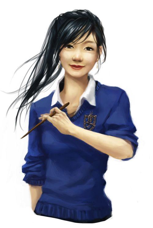 Cho Chang by ~ereya on deviantART
