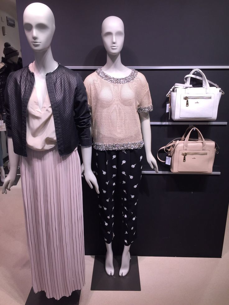 New Pinko Collection Spring Summer 2015 - trasparent, printed pants, leather jacket, pleat skirt - Hogan Bags #fashion #womenswear #ss15 #maximilian_it - available at maximilian.it