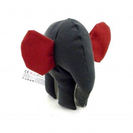 Small Red and Gray Elephant by Simply Made. #elephant #simplymade #handmade #gift €12,30
