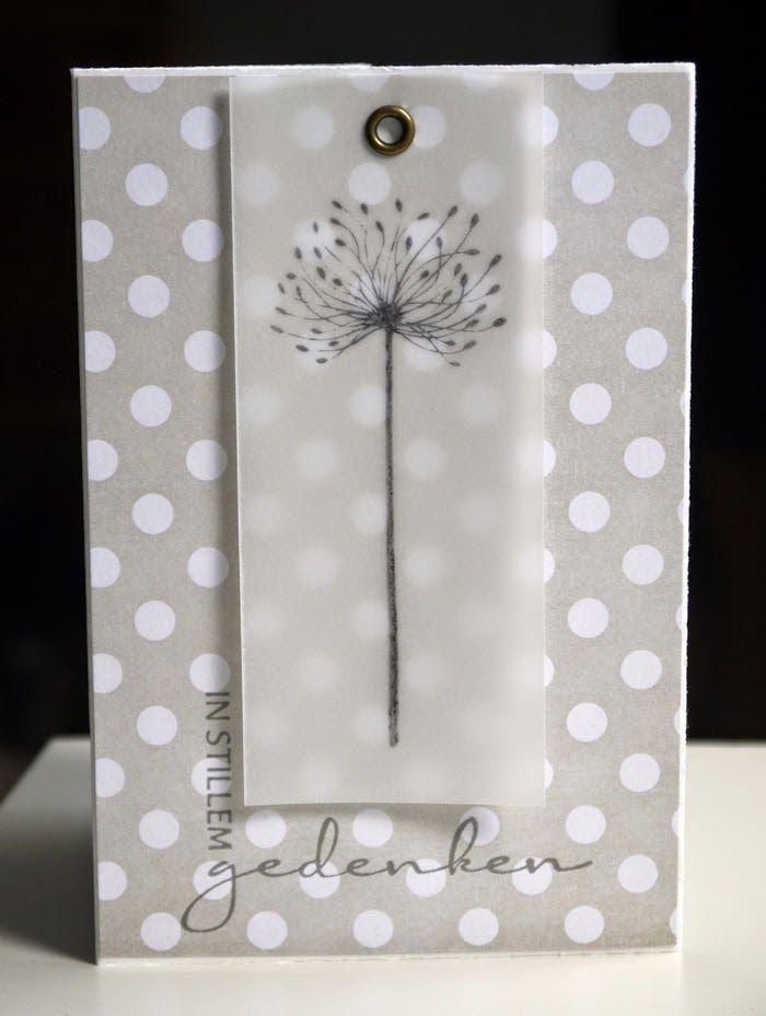 Blütenstempel: Trauerkarte