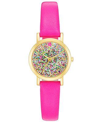 kate spade new york Watch, Women's Metro Mini Vivid Snapdragon Leather Strap 24mm 1YRU0269 - Watches - Jewelry & Watches - Macy's