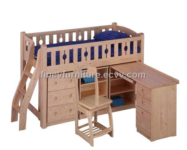 Desk Bunk Beds | Wayfair