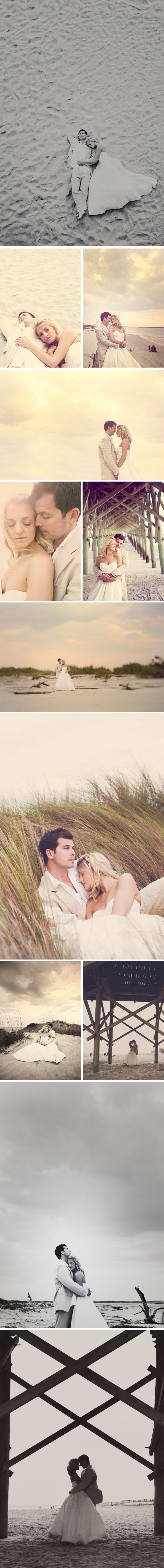 Romantic pre wedding photoshoot inspiration perfect for a beach wedding.