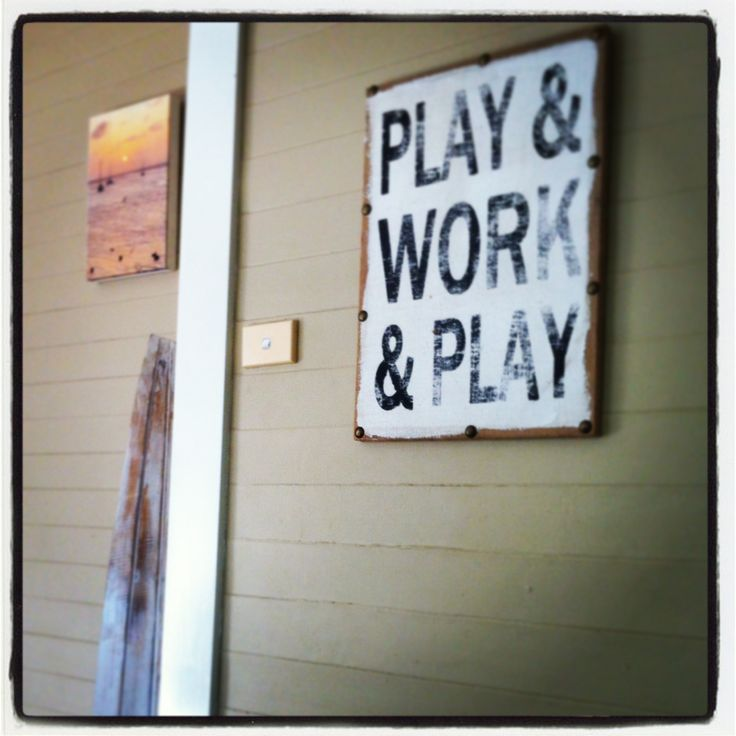 Our work ethic...a little work but mostly play.