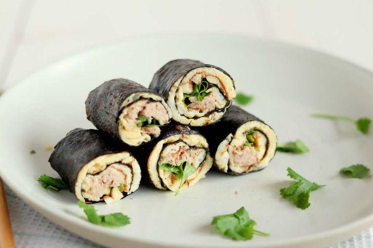 Sushi wraps met tonijn