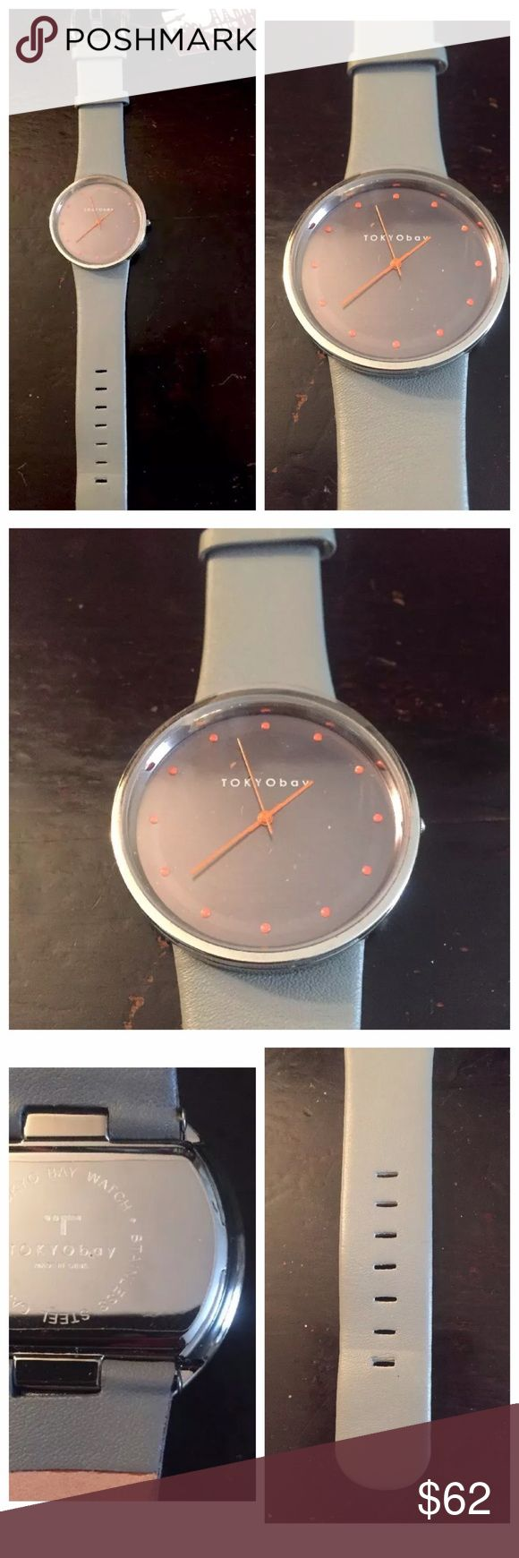 Tokyo Bay Watch, NWT, Quartz (Battery), $146 Tokyo Bay Men's Wristwatch   Gray with black face and stainless steel back NWT  Great condition Needs new battery Tokyo Bay Accessories Watches