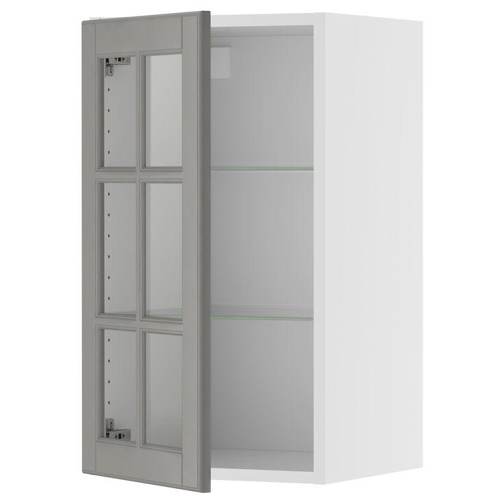 Akurum wall cabinet with glass door birch effect lidi for Akurum kitchen cabinets ikea