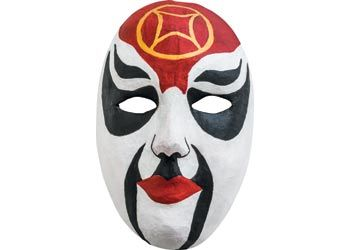 Scary paper masks for Halloween dress up costumes