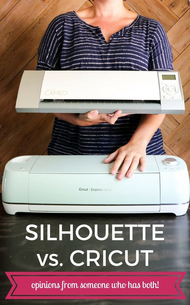 Silhouette vs. Cricut? Learn the pros and cons of the Silhouette Cameo vs. Cricut Explore so you can decide once and for all which cutting machine is best for you!