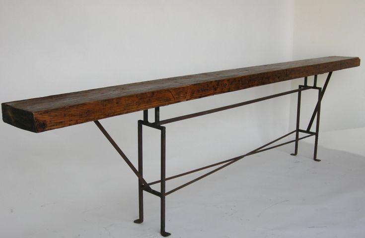 Dos Gallos Custom Long Skinny Reclaimed Wood Console Table