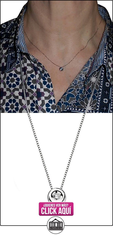 Colgante oro blanco 18k con cadena diamante brillante 0.02ct [AA1791]  ✿ Joyas para mujer - Las mejores ofertas ✿ ▬► Ver oferta: http://comprar.io/goto/B01J696I10