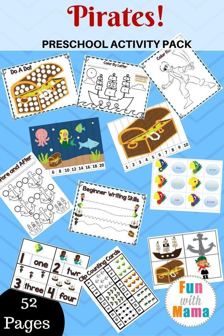 Pirate Theme Printable Preschool Pack Pirate Activities Preschool Pirate Preschool Preschool Pirate Theme [ 1102 x 735 Pixel ]
