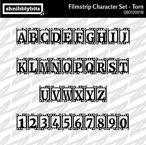 Torn Filmstrip Character Set