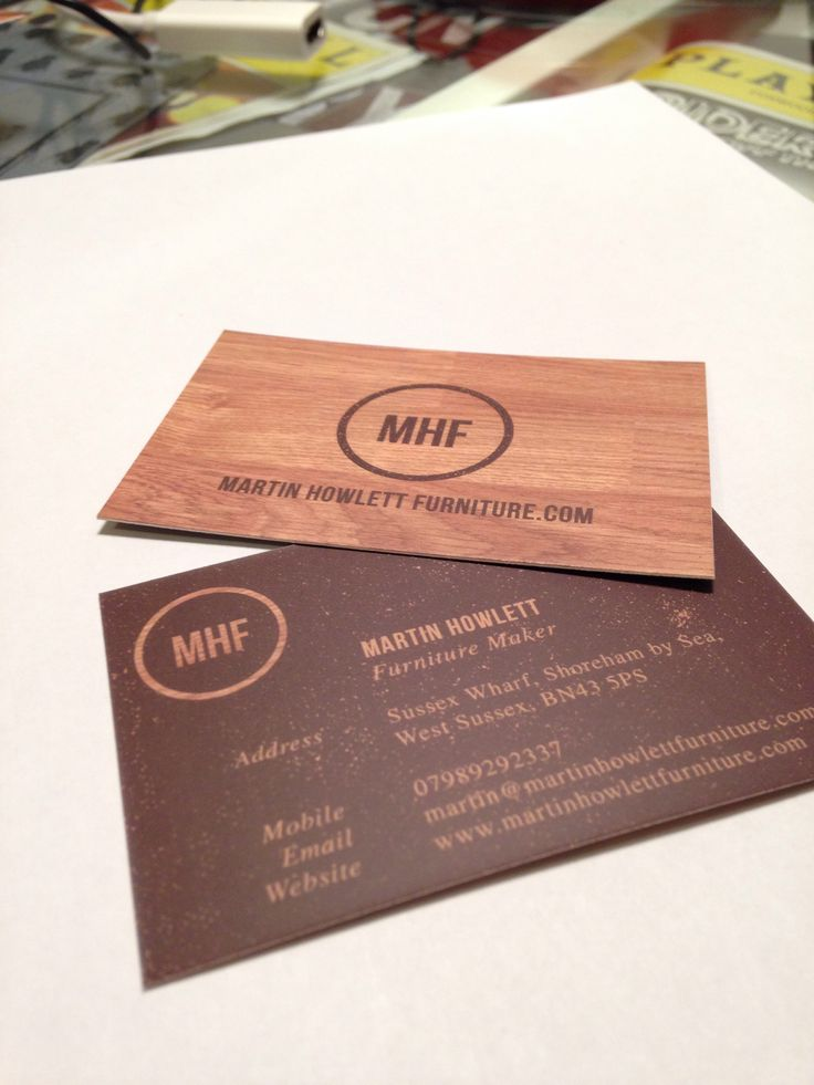 martin howletts furniture maker business cards mario picariello