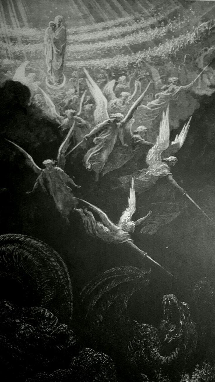 Phillip Medhurst presents detail 238:241 Gustave Doré Bible The Crowned Virgin - A Vision of John Revelation 20:12