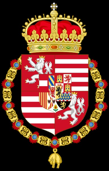 Coat of arms of Ferdinand I as King of Hungary and Bohemia