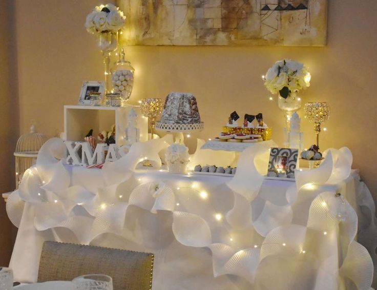 865 best christmas ideas images on pinterest black for Christmas party decoration ideas