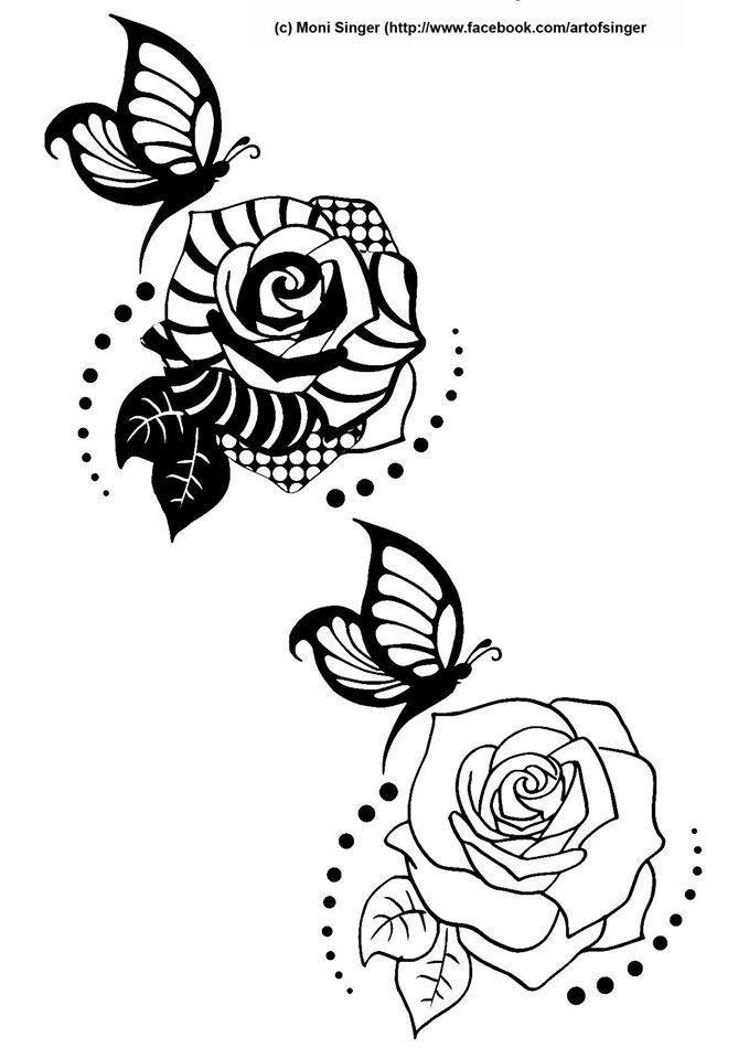 Silhouette plotter file free, Plotter Datei kostenlos, plotter freebie, tangles, Rose mit Schmetterling, rose with butterfly