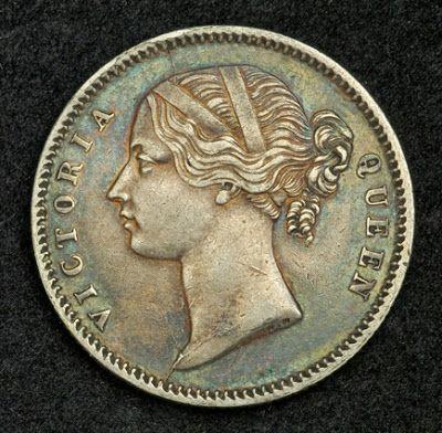 British India coins Queen Victoria silver coin Indian half rupee