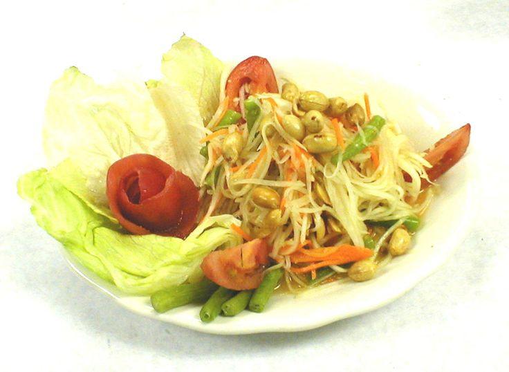 ensalada Thailandesa de Papaya verde