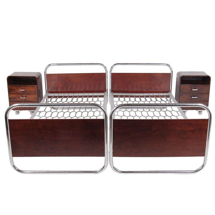 Bauhaus Bed Set with Nightstands by Desta. 116 best Art Deco Bedroom Furniture images on Pinterest   Art deco