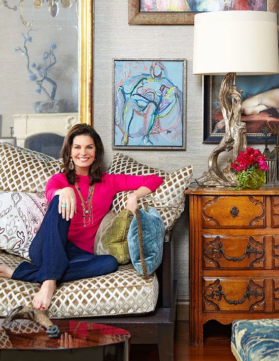 Sela Ward's Stylish Bel Air Home With a Southern Soul - Traditional Home. I could see her playing Jackie O now.