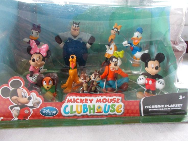 New 10 Disney Mickey Mouse Clubhouse Figurine Playset Cake Topper Minnie Pluto + #Disney