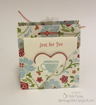 Tea Bag Holder/Card /Cookie :: Confessions of a Stamping Addict