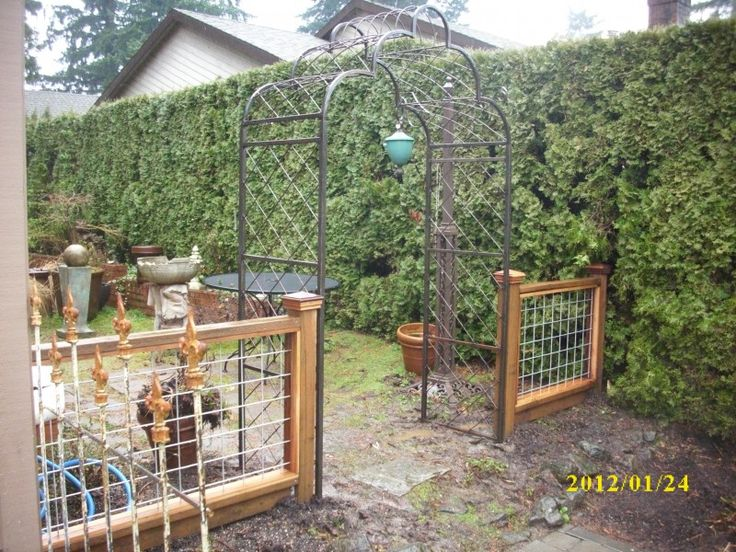 hogwire fence pictures   hog panel gate hog panel fencing galvanized wire with wood frame fence