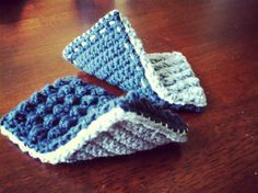 Crochet Pattern - Thick nubbly bobble sponges for cleaning!