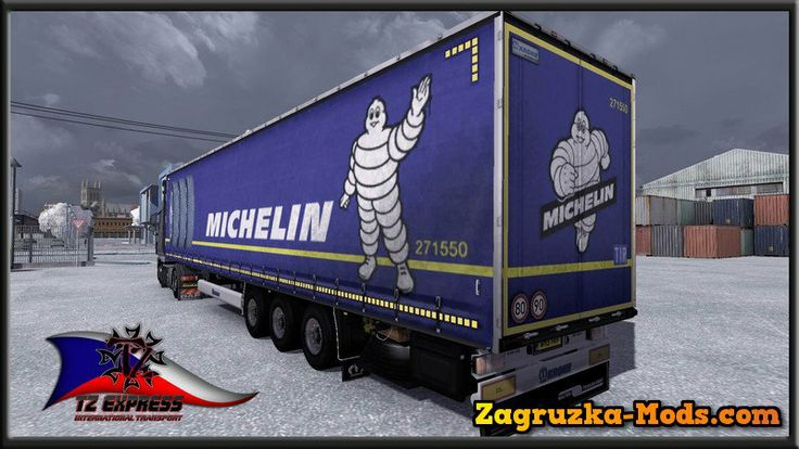 Krone Mega Trailers Skins v1.9 for ETS 2