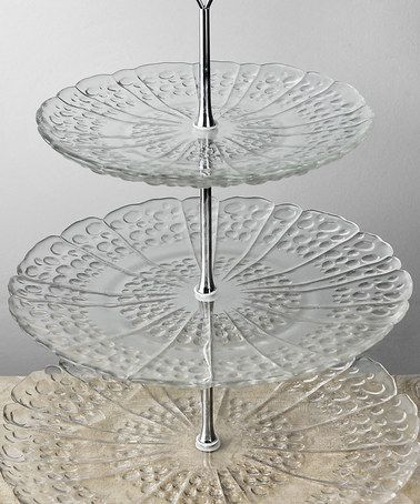 Another great find on #zulily! Glass Three-Tier Serving Tray #zulilyfinds
