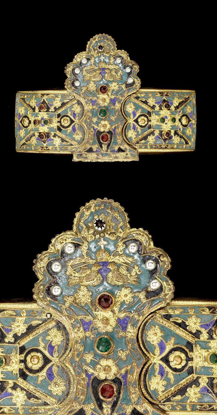 Greece | Belt buckle; gemset with enamel | ca. 18th century | 1'200£ ~ sold (Apr '08)