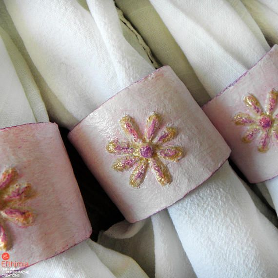 Napkin Rings Recycled Mother Gift Napkin Holders Paper