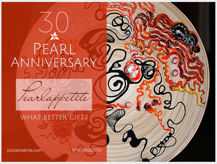 Celebrating someone's Pearl Anniversary? Why not gift a pearly gift. Your company turning 30? Pearlappetite is the perfect corporate gft.  Email prozario@me.com.    Swarovski crystals and pearls on wood plate.