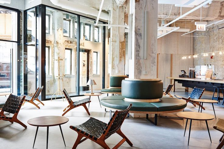 The Hollander hotel in Chicago is a new design and social space, where visitors are encouraged to connect with each other before arrival via Instagram. The interior, conceived by French studio Delo