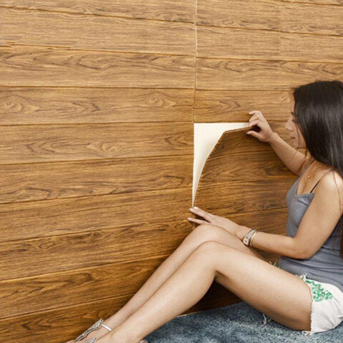 4pcs 3D Door Sticker Waterproof Removable Self-Adhesive Wall Sticker Decal Decor