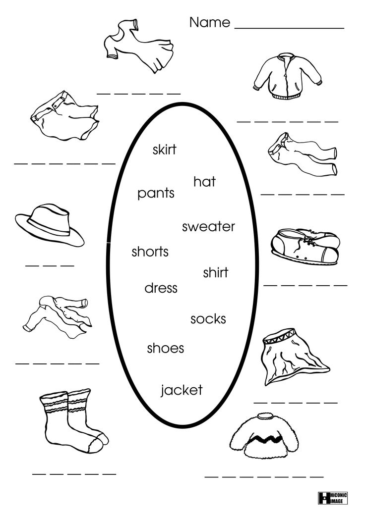 Spanish Clothes Worksheet