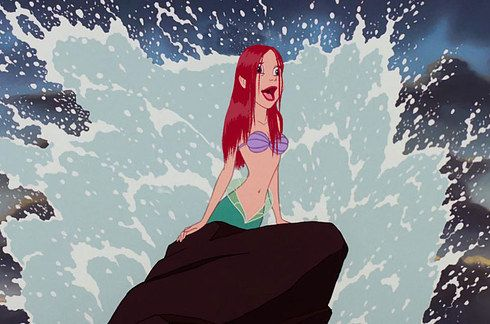 Ariel with actual wet hair. | If Disney Princesses Had Realistic Hair