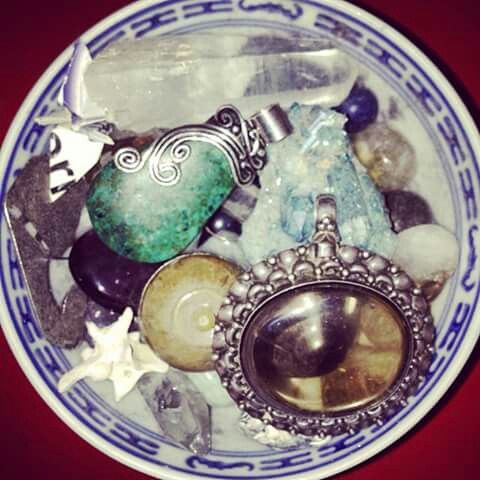 Crystals by my bed. I love to be surrounded by beauty. www.EricaRoss.com