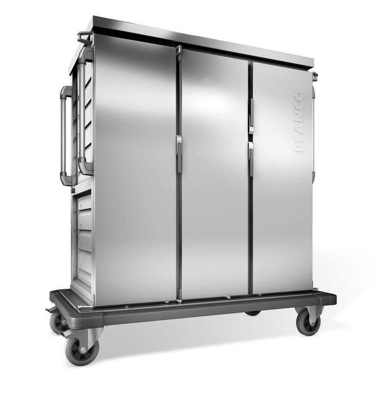 GTARDO.DE:  Tablettwagen 30 Tabletts, aktive Kühlung, doppelwandig, 3 Schränke mit Flügeltüren, BxTxH 1554x783x1636 mm 4 882,00 €