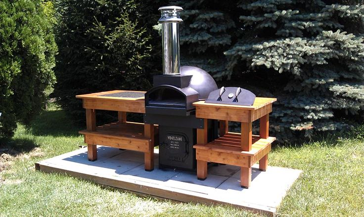 More of this pizza oven and its side tables.